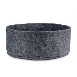 Round felt cat bed in grey