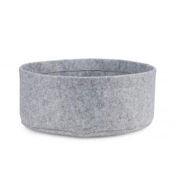Side view of felt round cat bed