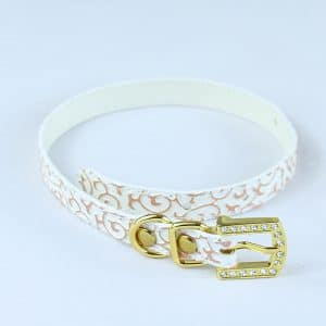 Pink and white cat collar