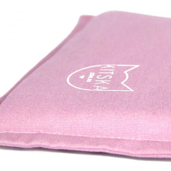 Corner of pink cat bed