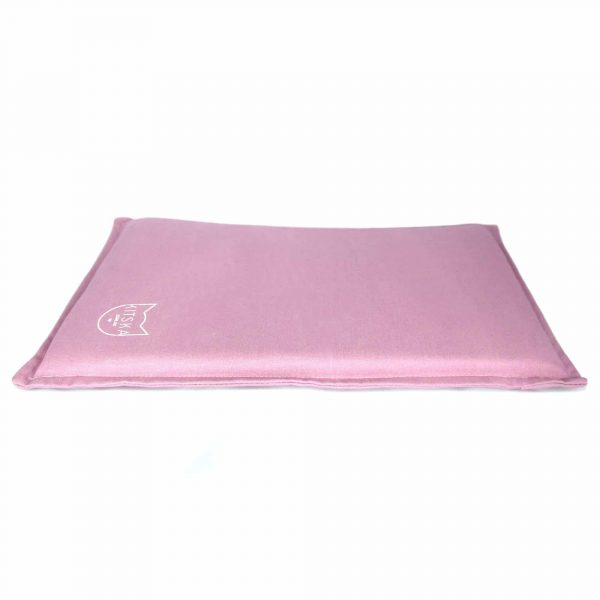 Side view of pink cat bed