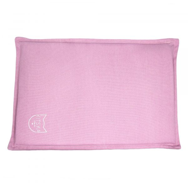 Top view of pink cat bed
