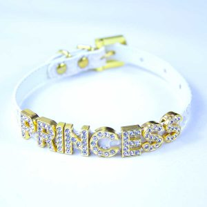 Whit collar with letters princess