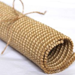 Roll of natural colour sisal